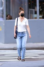 KATIE HOLMES Out in New York 06/04/2021