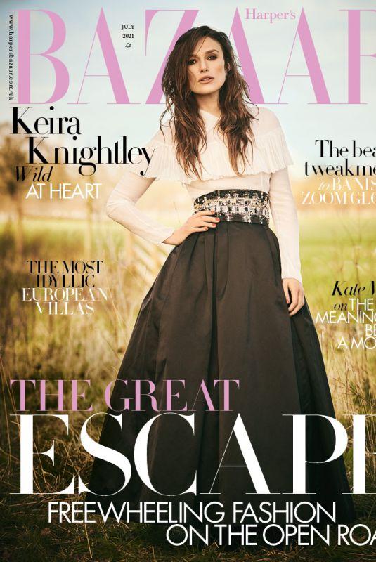 KEIRA KNIGHTLEY in Harper's Bazaar Magazine, July 2021