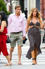 KELLY BENSIMON and Nick Stefanov Out in New York 06/20/2021