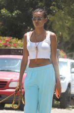 KELLY GALE Out with Her Dog in Malibu 06/16/2021