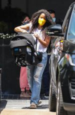 KELLY ROWLAND Out Shopping in Beverly Hills 06/05/2021