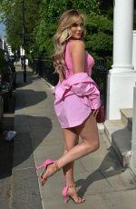 KELSEY STRATFROD in Denim Shorts Out in London 06/29/2021