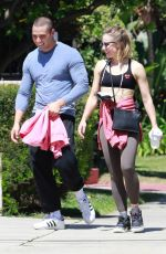 KRISTEN BELL and Benjamin Levy Aguilar Heading to a Gym in Los Feliz 06/09/2021