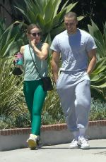 KRISTEN BELL and Benjamin Levy Aguilar Heading to a Gym in Los Feliz 06/13/2021