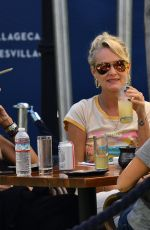 LAETICIA HALLYDAY Out with Friends for Brunch in Brentwood 06/13/2021