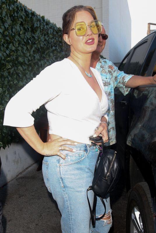 LANA DEL REY Arrives at Craig's in West Hollywood 06/10/2021