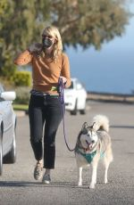 LAURA DERN Out with Her Dog in Pacific Palisades 06/10/2021