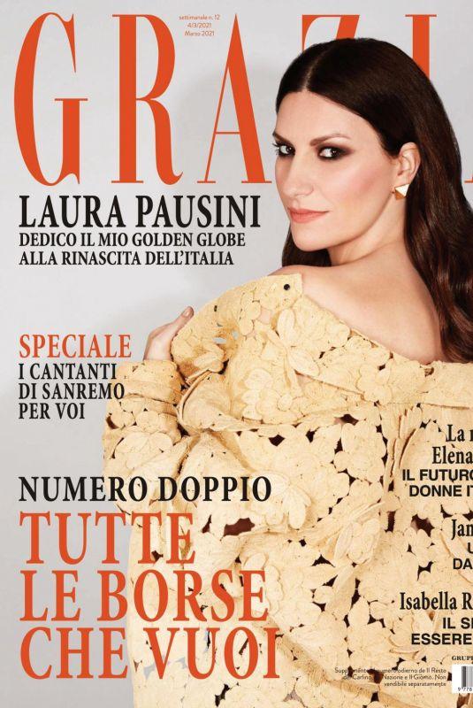 LAURA PAUSINI in Grazia Magazine, Italy March 2021