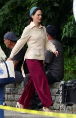 LENA HEADEY on the Set of White House Plumbers in Poughkeepsie 06/03/2021