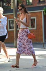 LILY ALDRIDGE Out and About in New York 06/17/2021
