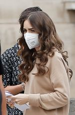 LILY COLLINS Arrives on the Set of Emily in Paris in Paris 06/07/2021