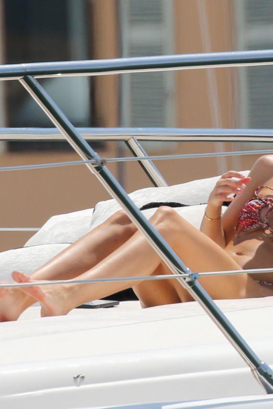 LORENA RAE in Bikini on a Yacht in Saint-Tropez 06/27/2021