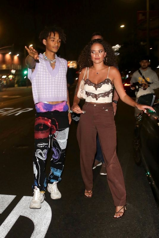 MADISON PETTIS and Jaden Smith at The Nice Guy in West Hollywood 06/02/2021