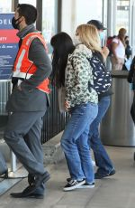 MEG and DAISY TRUE RYAN at LAX Airport in Los Angeles 06/10/2021