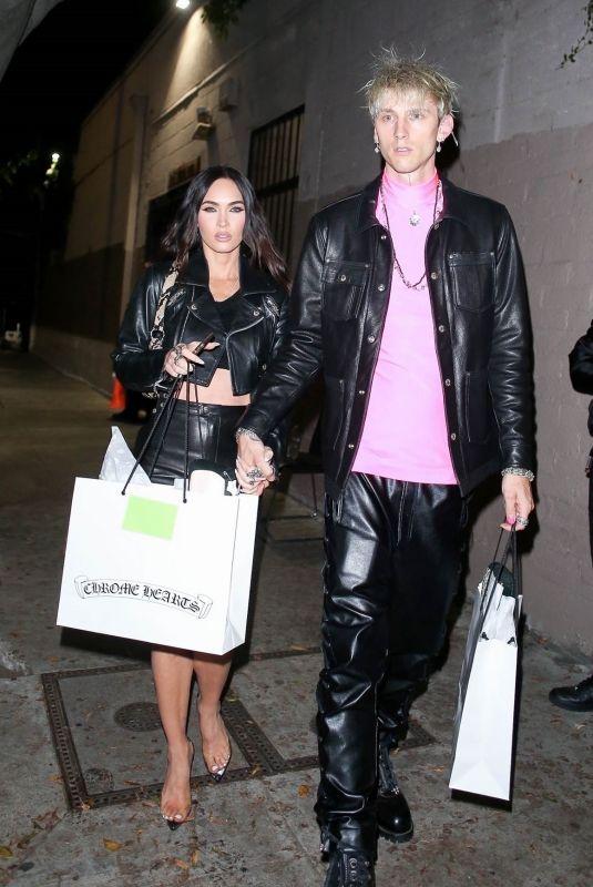 MEGAN FOX and Machine Gun Kelly Megan Fox at Chrome Hearts in Hollywood 06/10/2021