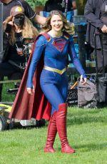 MELISSA BENOIST on the Set of Supergirl, Final Season in Vancouver 06/08/2021