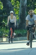 MIA GOTH and Shia Labeouf Out Riding Bikes in Pasadena 06/06/2021