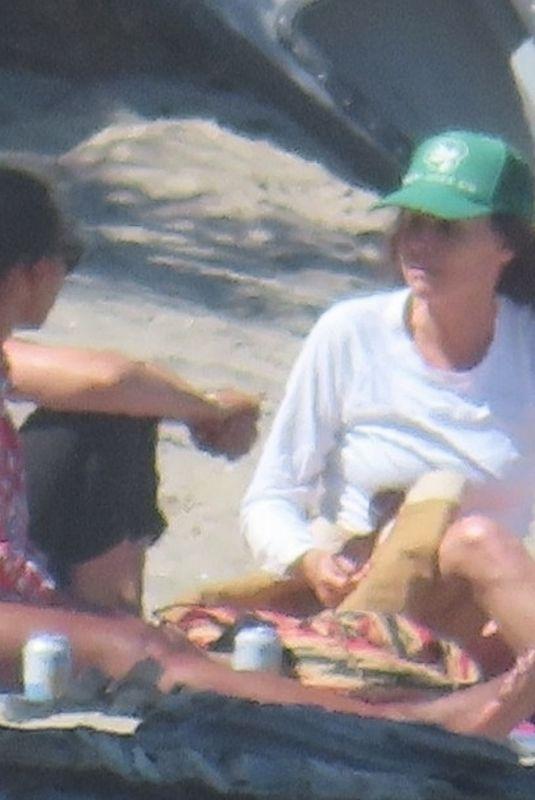 MINNIE DRIVER at a Beach in Malibu 06/23/2021