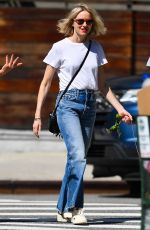 NAOMI WATTS in Denim Out with Her Dog Izzy in New York 06/10/2021