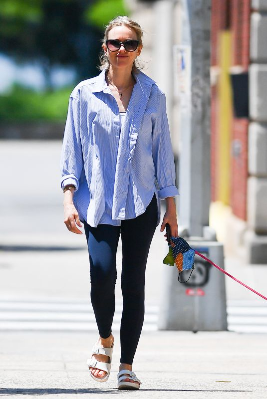 NAOMI WATTS Out with Her Dog in New York 06/06/2021