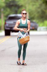 NINA AGDAL Leaves Her Fitness Class in Amagansett 06/26/2021
