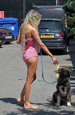 OLIVIA ATTWOOD Out with Her Dog in Manchester 06/08/2021