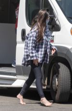 OLIVIA MUNN at a Mobile Dog Groomer Outside Her Home in Los Angeles 06/13/2021
