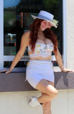 PHOEBE PRICE at Wells Fargo ATM in Los Angeles 06/29/2021