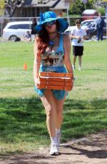 PHOEBE PRICE Out at a Park in Los Angeles 06/21/2021