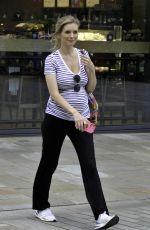 Pregnant RACHEL RILEY Leaves Countdown Studio in Manchester 06/09/2021
