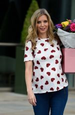 Pregnant RACHEL RILEY Out with Flowers in Manchester 06/22/2021