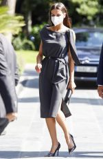 QUEEN LETIZIA OF SPAIN at a Working Meeting at Mutua Madrilena Headquarters 06/02/2021
