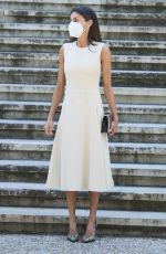 QUEEN LETIZIA OF SPAIN at Inauguration of Emila Pardo Bazan Exhibition at National Library in Madrid 06/08/2021