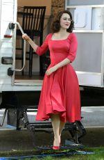 RACHEL BROSNAHAN on the Set of The Marvelous Mrs Maisel in New York 06/13/2021