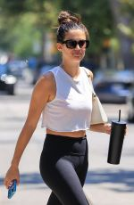 SARA SAMPAIO Arrives at Workout in West Hollywood 06/04/2021