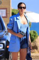 SARA SAMPAIO in Denim Shorts Waiting for Her Car in Malibu 06/05/2021