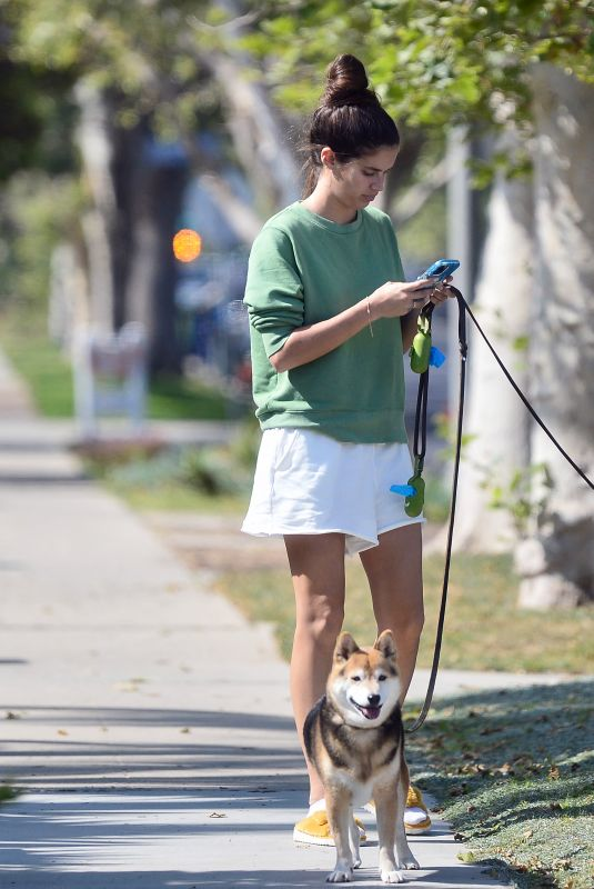 SARA SAMPAIO Out with Her Dogs Kyta and South in Los Angeles 06/03/2021