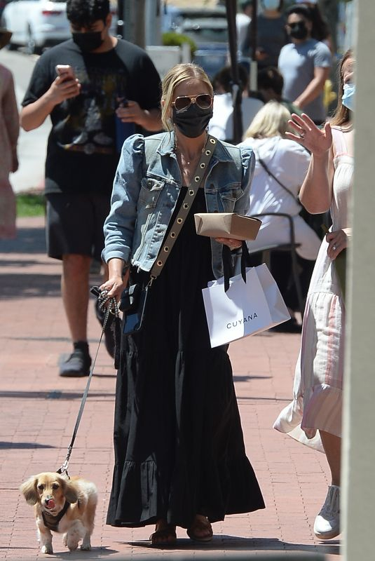 SARAH MICHELLE GELLAR Out with Her Dog in Los Angeles 06/14/2021