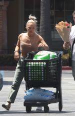 SHARNA BURGESS and Brian Austin Green Shopping at Ralphs in Malibu 06/14/2021