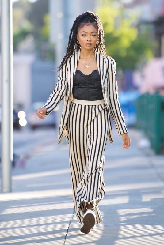 SKAI JACKSON Heading for Dinner at Katana in West Hollywood 06/14/2021