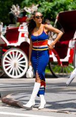 TAYSHIA ADAMS Out in New York 06/23/2021