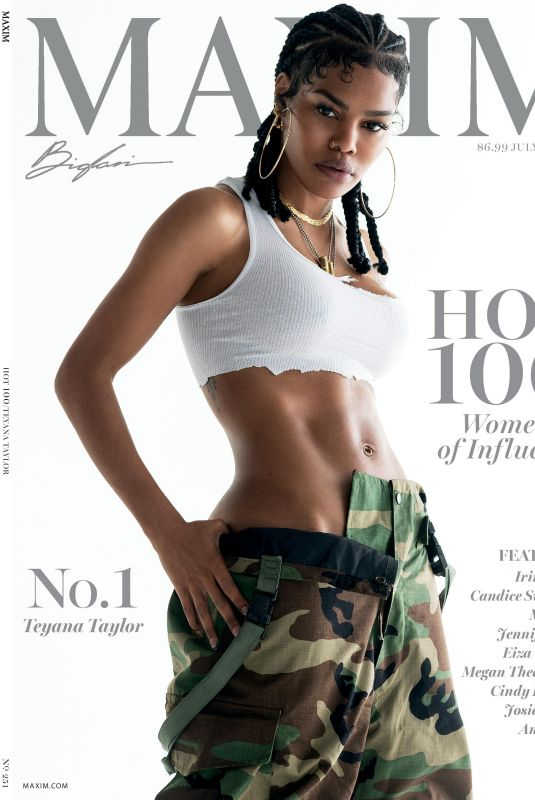 TEYANA TAYLOR in Maxim Magazine, July/August 2021