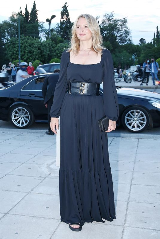 VIRGINIE AFIRA Arrives at Christian Dior Fashion Show in Athens 06/17/2021