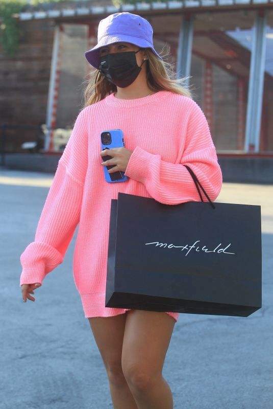 ADDISON RAE Shopping at Maxfield in West Hollywood 07/20/2021