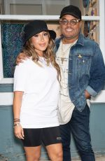 ADRIENNE BAILON and Israel Houghton at Their Cafe New Breed Pop-up Worship Sessions Tour in Philadelphia 07/21/2021