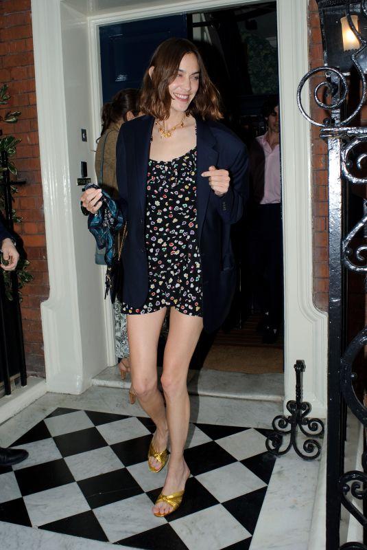 ALEXA CHUNG Leaves Mark's Club in London 07/15/2021