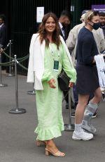 ALEXANDRA FELSTEAD Arrives at 2021 Wimbledon Tennis Tournament in London 07/07/2021