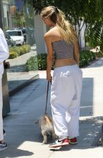 ALEXIS REN Out with Her Dog Angel in Los Angeles 07/10/2021