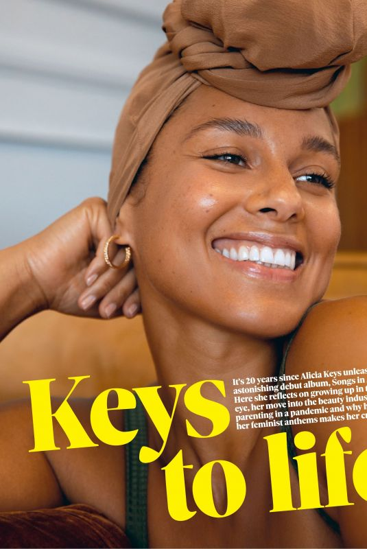 ALICIA KEYS in The Observer Magazine, July 2021