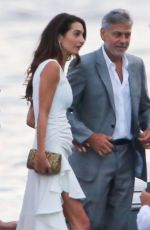 AMAL CLOONEY Out for Dinner in Tremezzo 07/19/2021